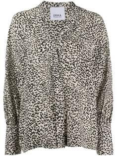 Erika Cavallini блузка с абстрактным принтом и V-образным вырезом