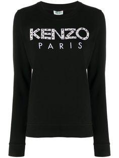 Kenzo толстовка с аппликацией логотипа