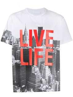 Neil Barrett футболка Live Life с короткими рукавами