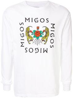 migos футболка с длинными рукавами и логотипом