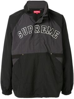 Supreme пуловер с воротником на молнии