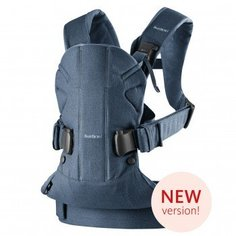 Рюкзак-переноска Babybjorn One Soft Cotton Classic Denim Midnight Blue, пепельно-синий