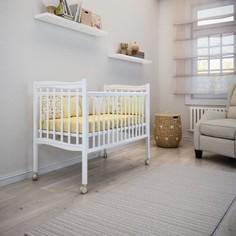 Кроватка на роликах Papaloni Fiore 120×60 см, белый