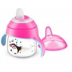 Чашка-непроливайка Philips Avent, от 6 мес., 200 мл, розовый