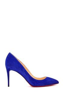 Ярко-синие туфли Pigalle Follies 85 Christian Louboutin