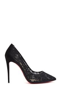 Черные кружевные туфли Follies Lace 100 Christian Louboutin