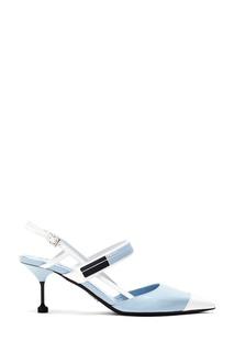 Черно-бело-голубые слингбэки Prada