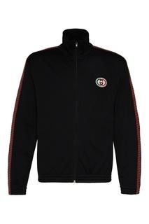 Спортивная куртка из сетчатой ткани Gucci