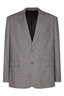 Клетчатый пиджак свободного кроя Balenciaga
