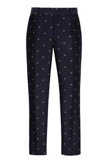 Синие брюки с узорами Fendi
