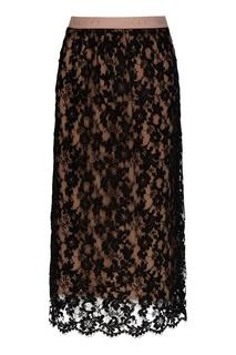 Кружевная юбка миди с эластичной талией Gucci