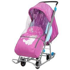 Санки-коляска Nika Disney baby 1 (DB1) с Мари орхидея