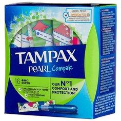 TAMPAX тампоны Compak Pearl Super Duo 16 шт.