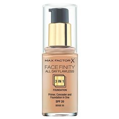 Max Factor Тональный крем Facefinity All Day Flawless 3-in-1, 30 мл, оттенок: 55 Beige
