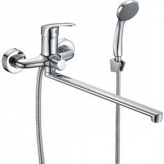Смеситель для ванны Milardo Simp с длинным изливом и душем, хром (SIMSB02M10)