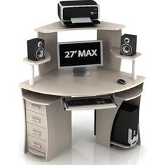 Стол компьютерный ТД Ная Угловой КС-2 Сокол+КН1 дуб беленый