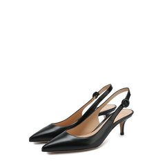 Кожаные туфли Anna на каблуке kitten heel Gianvito Rossi
