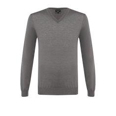 Кашемировый пуловер тонкой вязки Giorgio Armani