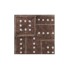 Носовой платок из смеси льна и хлопка Brunello Cucinelli
