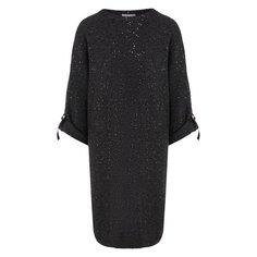 Платье из смеси кашемира и шелка Brunello Cucinelli