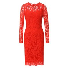 Кружевное платье с круглым вырезом Dolce & Gabbana