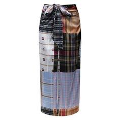 Шелковая юбка Ganni