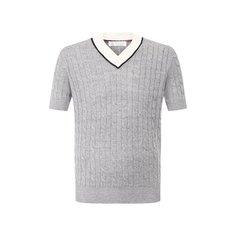 Пуловер с короткими рукавами Brunello Cucinelli