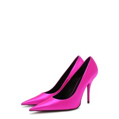Атласные туфли Knife на шпильке Balenciaga