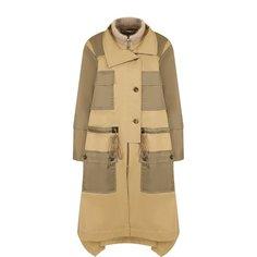 Пальто с накладными карманами и воротником-стойкой Chloé