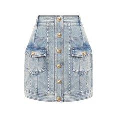 Джинсовая юбка Balmain