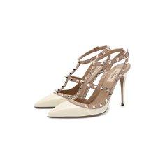 Лаковые туфли Valentino Garavani Rockstud с ремешками на шпильке Valentino