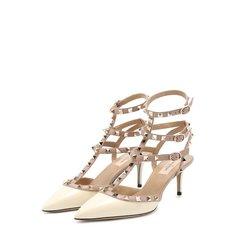 Лаковые туфли Valentino Garavani Rockstud с ремешками Valentino