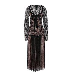 Приталенное платье-миди с круглым вырезом Bottega Veneta