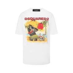Хлопковая футболка Dsquared2