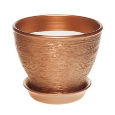 Горшок для цветов Керам Ксения бронзовый 19 см