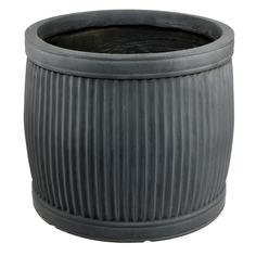 Горшок L&t pottery для цветов lt бочка ребристый серый 54 см Jardin d Eden