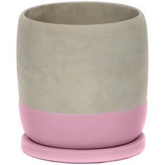 Горшок для цветов Shuanyi цилиндр розовый 17 см