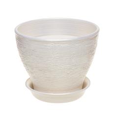 Горшок для цветов Керам Ксения белый 12 см