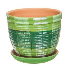Горшок Серебряный ручей D 18.5 см зеленый