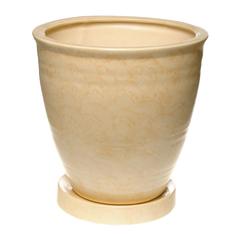 Горшок для цветов № 10 бежевый d28см Элитная керамика
