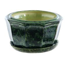 Горшок для цветов №30 зеленый d23см Элитная керамика