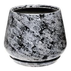 Горшок для цветов декоративный Гончар скарлет №1 (гранит), 31 см.