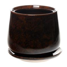 горшок для цветов декоративный Гончар СКАРЛЕТ №1 (коричневый), 31 см