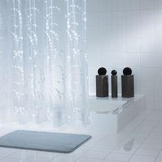 Штора для ванных комнат Dots белый 180*200 Ridder