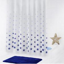 Штора для ванных комнат Stella синий 180Х200 Ridder