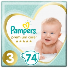 Подгузники Pampers Premium Care midi 6-10 кг 74 шт
