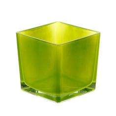 Ваза Hakbijl glass cubic 12х12х12см зелёная