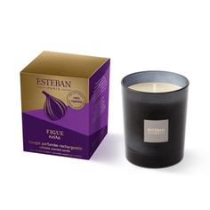 Ароматическая свеча Esteban Черный инжир 170 г серая
