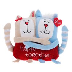 Мягкая игрушка Кот и кошка Gulliver счастливы вместе 15 см