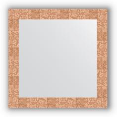 Зеркало в багетной раме Evoform соты медь 66х66 см